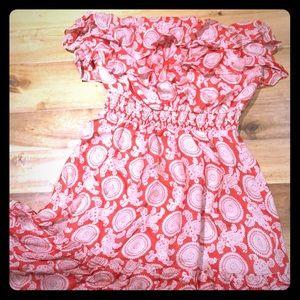 Silk dress, off-shoulder optional.